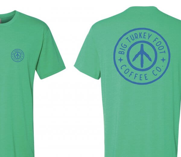 BTF Circle Logo T-shirt (green/blue)