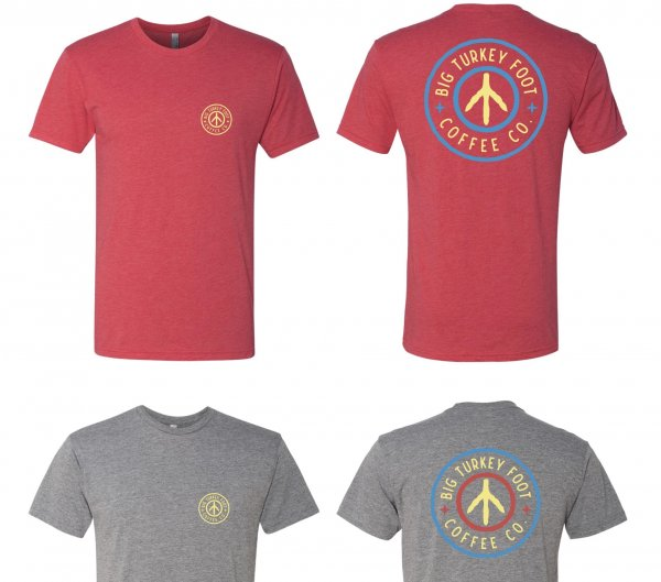 BTF Circle Logo T-shirt (red/gray)