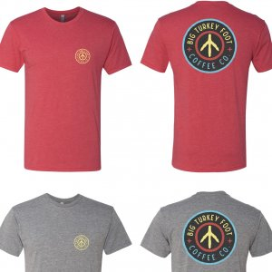 BTF Circle Logo T-shirt (red/gray filled)
