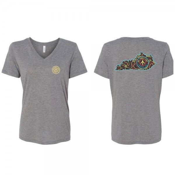 BTF Kentucky Logo Tshirt (gray vneck)